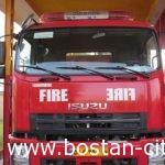 افزوده شدن یک دستگاه ماشین آتش نشانی جدیدبه ناوگان خدمات آتش نشانی وخدمات ایمنی شهرداری بستان ازمحل درآمدداخلی