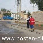 شستشوی معابرشهری توسط واحد خدمات شهری