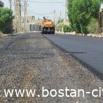 مهندس عذارمالکی شهردار بستان: خیابانهای اصلی و فرعی کوی شماریه آسفالت ریزی شدند