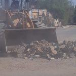 نخاله برداری ساختمان در سطح منطقه کوی مسکن مهرانجام شد