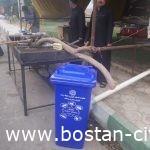 توزیع سطل و کیسه زباله بین مواکب اربعین حسینی و برخی مدارس شهر بستان