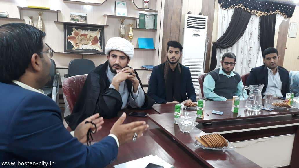 دیدار فعالان فرهنگی مذهبی با شهردار بستان