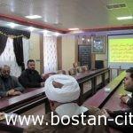 جلسه اعضای شورای شهروشهرداربستان بارئیس سازمان آب وفاضلاب بخش بستان